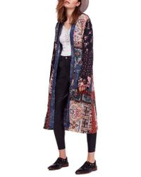Free People - Songbird Patched Coat - Lyst
