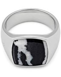 Tom Wood | Women's Zebra Marble Cushion Signet Ring | Lyst