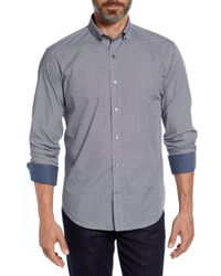 Bugatchi - Shaped Fit Mixed Print Sport Shirt - Lyst