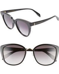 Alexander McQueen - 56mm Gradient Round Sunglasses - Lyst