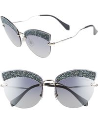Miu Miu - Scenique Evolution 65mm Cat Eye Sunglasses - Lyst