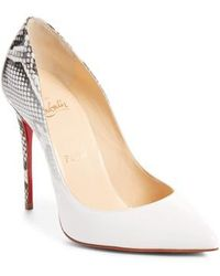 a4b2c6eeee2 Lyst - Christian Louboutin Pigalle Follies 100 Patent Pump in Purple