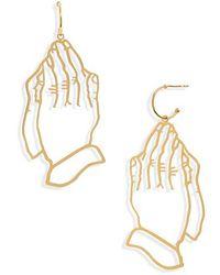 Simone Rocha - Hands Statement Earrings - Lyst