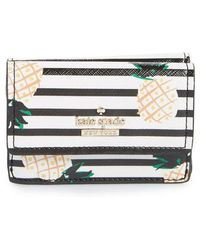 Kate Spade - Cameron Street - Kay Pineapples Glazed Canvas Wallet - - Lyst