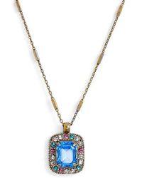 Sorrelli - Opulent Octagon Crystal Pendant Necklace - Lyst