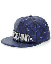133654c6c123e Lyst - Moschino Quilted Leather Baseball Cap in Black