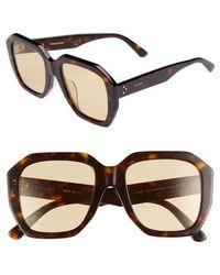 7638f56b1fce Lyst - Céline Cl 41078 J22 Blue Havana Square Plastic Sunglasses in Gray