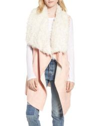 Heurueh - Dawn Maxi Fly Away Faux Shearling Vest - Lyst