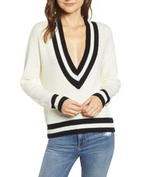 BISHOP AND YOUNG - Bishop + Young Varsity V-neck Sweater - Lyst