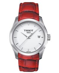 Tissot - Couturier Leather Strap Watch - Lyst