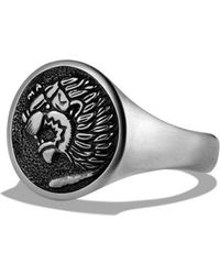 David Yurman - 'petrvs' Lion Signet Pinky Ring - Lyst