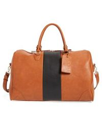 Sole Society - 'robin' Faux Leather Weekend Bag - Lyst
