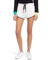 b46da9bf1d Wildfox High Rise Beach Butt Denim Shorts With Frayed Edge & Exposed ...