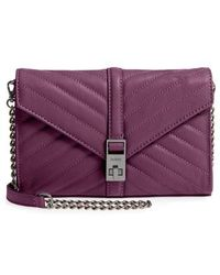 Botkier - Dakota Quilted Leather Clutch - Purple - Lyst