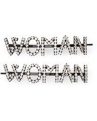 Ashley Williams - Woman Set Of 2 Crystal Hair Pins - Lyst