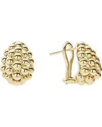 Lagos - Caviar Gold Bold Medium Omega Earrings - Lyst