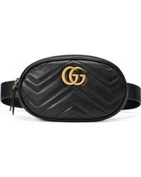 6cbe9359f13476 Gucci Small Gg Marmont 2.0 Velvet Belt Bag in Blue - Lyst