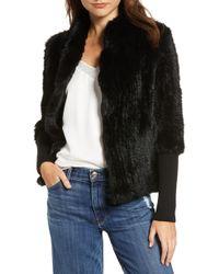 Love Token - Genuine Rabbit Fur Knit Jacket - Lyst