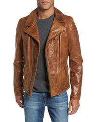 Schott Nyc - Asymmetrical Waxy Leather Jacket - Lyst