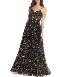 Mac Duggal - Embroidered Bustier Gown - Lyst