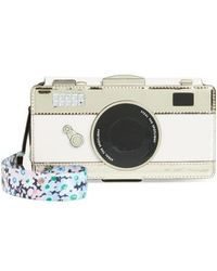 Kate Spade - Camera Iphone X Leather Folio Case With Daisy Strap - - Lyst