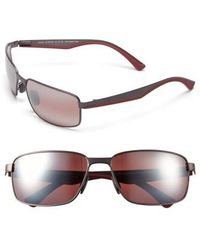 Maui Jim - 'backswing - Polarizedplus2' 61mm Polarized Sunglasses - Satin Dark Gunmetal/ Maui Rose - Lyst
