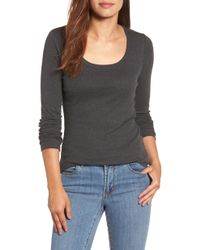 Caslon - Caslon 'melody' Long Sleeve Scoop Neck Tee - Lyst