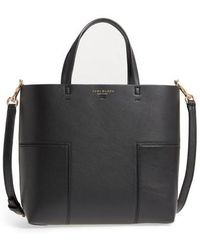 78226d7c13e Lyst - Tory Burch Block-t Bucket Bag in Black