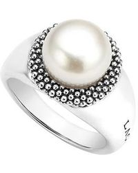 Lagos - 'luna' Large Pearl Ring - Lyst