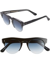 Cutler & Gross - 48mm Polarized Browline Sunglasses - - Lyst