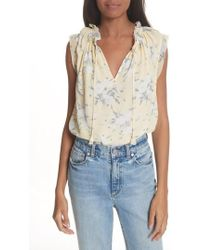 Rebecca Taylor | Lemon Rose Silk Top | Lyst