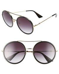 Gucci - 56mm Round Sunglasses - Lyst
