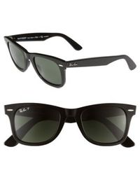Ray-Ban - Standard Classic Wayfarer 50mm Polarized Sunglasses - - Lyst