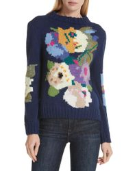 Smythe - X Augden Hand Knit Floral Intarsia Wool Sweater - Lyst