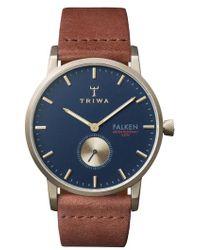 Triwa - Falken Leather Strap Watch - Lyst