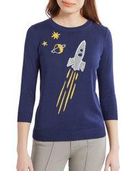 ModCloth - Rocket Intarsia Sweater - Lyst