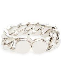 Tom Wood - Medium Chunky Silver Chain Link Bracelet - Lyst