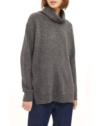 TOPSHOP | Oversize Funnel Neck Sweater | Lyst