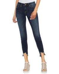 Vince Camuto - Uneven Hem Skinny Jeans - Lyst