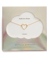 Estella Bartlett - Smile Dream Love Open Heart Necklace - Lyst
