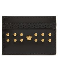 Versace - Dual Tone Leather Card Case - - Lyst