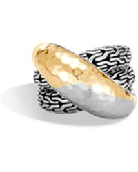 John Hardy - Classic Chain Hammered Overlap Ring - Lyst