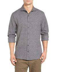 Singer + Sargent - Regular Fit Glen Plaid Sport Shirt - Lyst