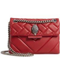 7a10b3053e22 Kurt Geiger - Mini Kensington Quilted Leather Crossbody Bag - Lyst