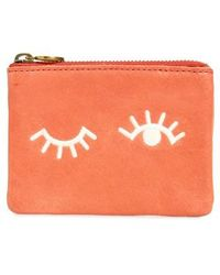 Madewell - Eye Embroidered Leather Zip Pouch - - Lyst