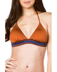 The Bikini Lab - Route 66 Triangle Bikini Top - Lyst