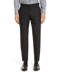 J.Crew | J.crew Ludlow Flat Front Solid Wool Trousers | Lyst