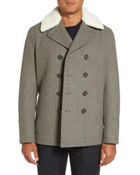 Michael Kors - Peacoat With Faux Shearling Collar - Lyst
