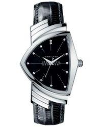 Hamilton - Ventura Leather Strap Watch - Lyst