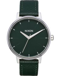 Nixon - The Kensington Leather Strap Watch - Lyst